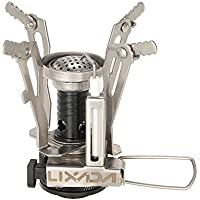 Lixada Collapsible Camping Stove Ultralight Stove Outdoor Piezo Ignition Cooking Stove Portable Folding Gas Burner Gas Stove 3500W