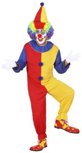 Widmann 02701 - Erwachsenenkostüm Clown, Kostüm mit Hut, Größe (Zirkus Kostüme Ideen Motto)