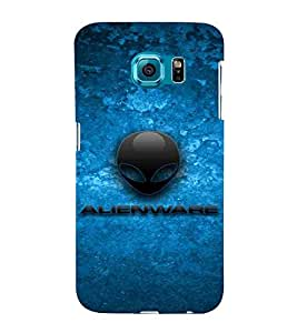 Alien Pattern, Blue, Amazing Pattern, classic pattern, Printed Designer Back Case Cover for Samsung Galaxy S6 Edge+ :: Samsung Galaxy S6 Edge Plus :: Samsung Galaxy S6 Edge+ G928G :: Samsung Galaxy S6 Edge+ G928F G928T G928A G928I