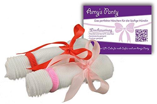 Amy's Panty Läufigkeit Schutzhose für läufige Hunde Hündin flexible Hundewindel Alternative und super hygienisch durch handelsübliche Binden