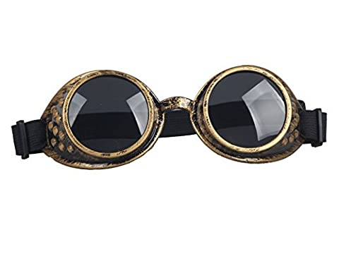 AFUT Victorian Steampunk Eyewear Goggles Welding Goth Cosplay Vintage
