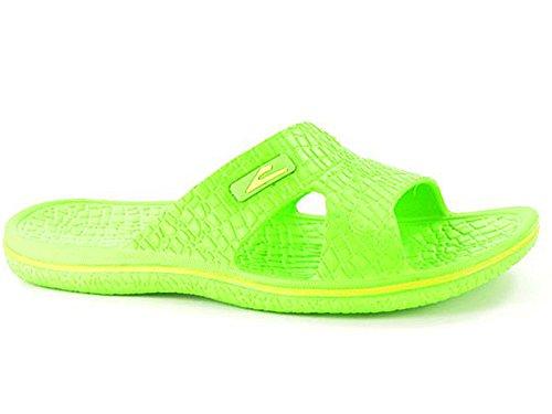 Foster Footwear ,  Mädchen Damen Jungen Pantoletten , grün - grün - Größe: 39