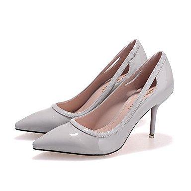 Moda Donna Sandali Sexy donna caduta tacchi Comfort brevetto Casual in pelle Stiletto Heel altri nero / rosa / Grigio / Fucsia Altri gray
