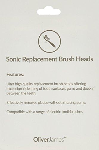 20 x Austauschbare Aufsteckbürsten / Zahnbürstenköpfe - kompatibel mit allen rotierenden elektrischen Zahnbürsten von Philips Sonicare