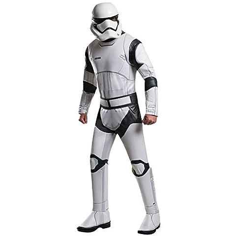 Star Wars 7 Kostüm Stormtrooper Herren deluxe 3-tlg Overall Gürtel Maske weiß - L (Leia Organa Kostüm)