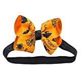 MVPKK  Bandeau Halloween Bébés Filles Noeud Papillon Halloween Chapeau Déguisement Bandeau Feutre Corne Oreilles Mignon Licorne Unicorn pour Cosplay Costume (Medium, Orange)