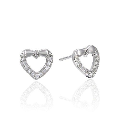Chanel Bow (Galwaygirls Ohrstecker New Sterling Silber S925 Bow Love Form Zirkon Ohrringe)