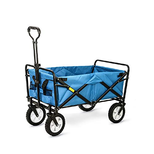 WYX Garden Trailer, Foldable Utility Heavy Trolley Cart-Portable Transport Hand Truck Trailer-80kg Max Load for Shopping/Festival/Camping@,B - Hand Cart