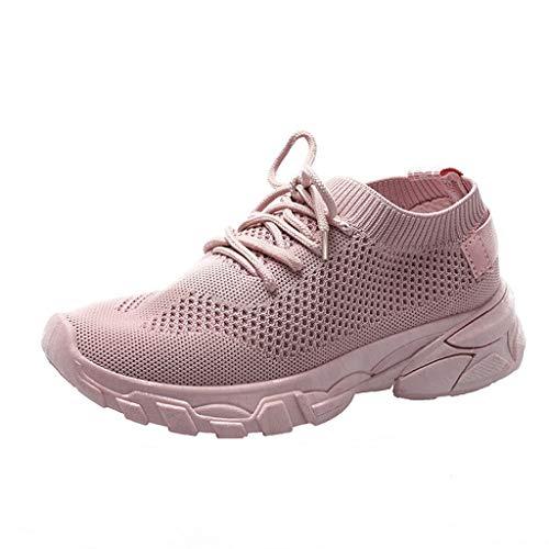in Vendita! Sneakers Basse Scarpe da Corsa con Lacci in Rete Scarpe Sportive Traspiranti Casuali per Donna/Ragazza di Kinlene