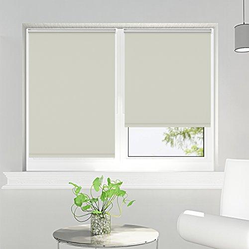 Estor enrollable opaco termico estores para ventanas sin taladrar crema 90 x 170 cm