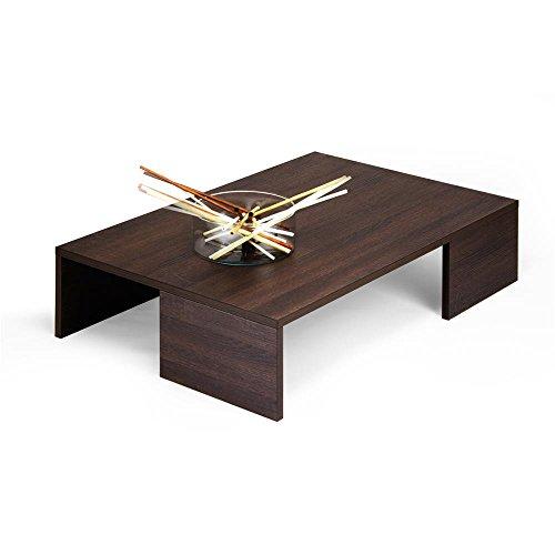 Mobilifiver rachele tavolino da salotto, legno, rovere moro, 90.0x60.0x21.0 cm