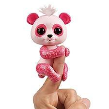 WowWee Fingerlings Panda pink Polly - 3561 / interaktives Spielzeug, reagiert auf Geräusche, Bewegungen und Berührungen