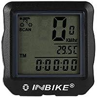 Houkiper Cuentakilómetros para Bicicleta, Bicicleta, Bicicleta, velocímetro inalámbrico, Pantalla LCD