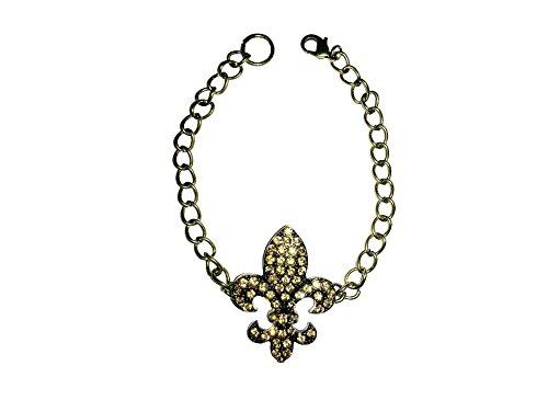 uhketten French Lily Stiefelketten Gold Strass Schmuck-Accessoires ()