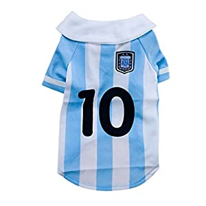 Liu Hua Super Chaud 2014 Football Coupe du Monde Pet Football T-Shirt Chien Pull pour Agentina Sport Jersey