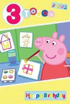 Peppa pig età 3 carta di compleanno