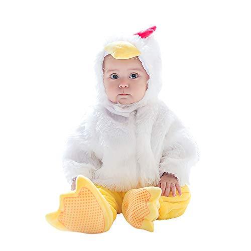 (mikistory Baby Säugling Neugeborenes Kostüm Einstellen Brechen Tier kostüme Schick Kleid Küken 18-24Monate)