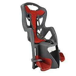 FISCHER Fahrradsitz für Kinder bis 22kg, optimaler Sitzkomfort, rot-grau