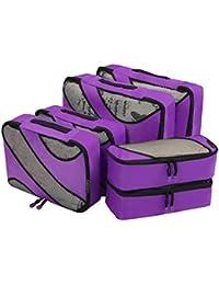 Eono Essentials Eono Essentials Ensemble de 6 Organisateurs de Voyage emballant des Cubes Bagage Sacs de Compression Sac dans Le Sac Organisateur pour des vêtements