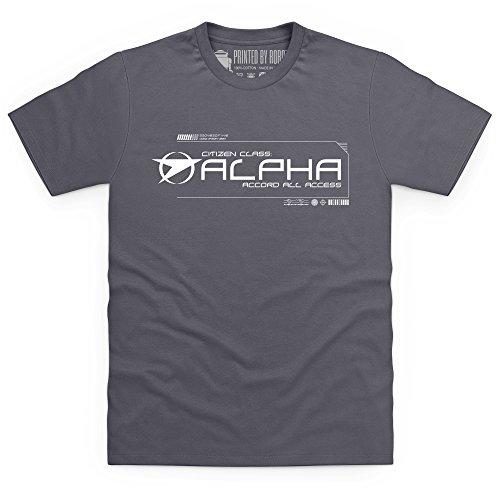 Official Blake's 7 T-Shirt - Grade Alpha, Herren Anthrazit