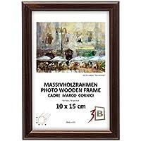 Set di pezzi 5 Cornici JENA - marrone scuro - 15x21 cm (A5) - Solide Cornici in Legno per Foto - Protezioni Foglio Orizzontale