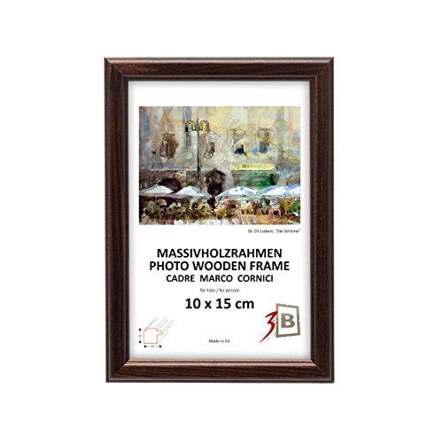 Set di pezzi 10 Cornici JENA - marrone scuro - 15x21 cm (A5) - Solide Cornici in Legno per Foto - Protezioni Foglio Orizzontale