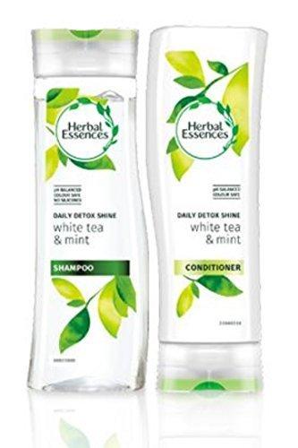 Herbal Essences Glanz (Herbal Essences Täglich Detox Glanz shampoo und haarkur mit weißer Tee und minze Paket mit exklusivem Beauty spitzen)