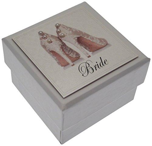 eschenkschachtel Bride Mini Hochzeit, mit Geschenkanhänger, Schuhe ()