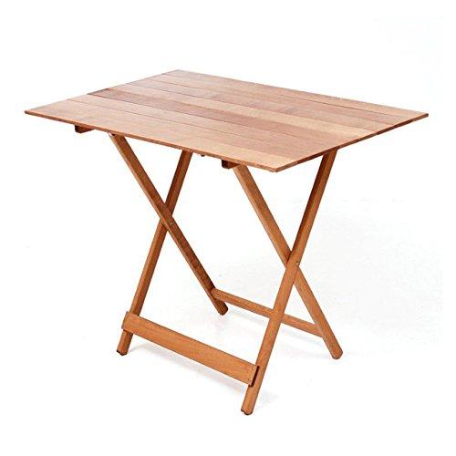 Table de pique-nique Bleu 60 x 100 cm Noix en bois de hêtre avec rabat.