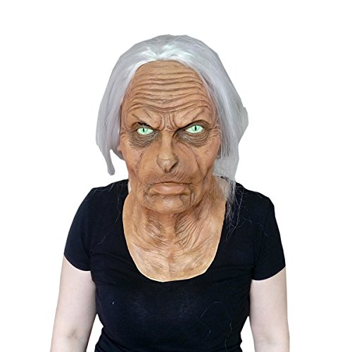 ra Mantra Maske Film Katze Gesicht Alte Lady '' Boo Zu Ihnen! '' Light Up LED Exklusives Gothic Steampunk Retro Rock Leder,A (Boo Halloween-film)