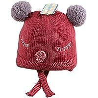 ETMAAA Otoño e Invierno Guiño Sombrero de Punto Bebé Niño Sombrero Sombrero de Moda, A