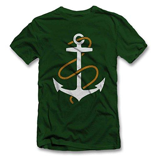 Anker T-Shirt S-XXL 12 Farben / Colours Dunkel Grün