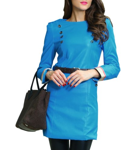 PinkyeeDamen Mantel Mehrfarbig 140762-Pattern L:UK14-16 Blau - 140765-Blue