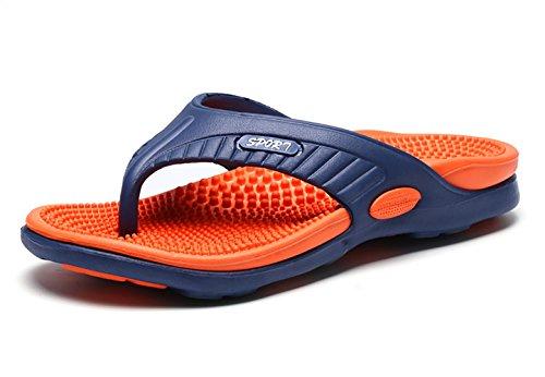 NiNE CiF Männer Zehentrenner Herren Flip Flops Stilvolle Strand Pool Hausschuhe Orange