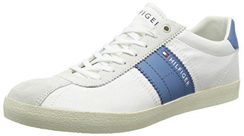 Tommy Hilfiger Herren P2285LAYOFF 1C_1 Sneaker Weiß (White/Blue Heaven 100) 42 EU