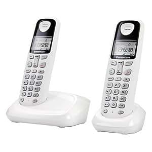 Sagemcom D17T Duo SAG-12256 Téléphone sans fil numérique Combine supplémentaire Blanc