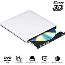Lettore DVD Blu Ray esterno Drive 3D, lettore di masterizzatori USB 3.0 Slim BD CD DVD RW ROM Writer per PC Mac Windows 7 8 10 XP Linxus