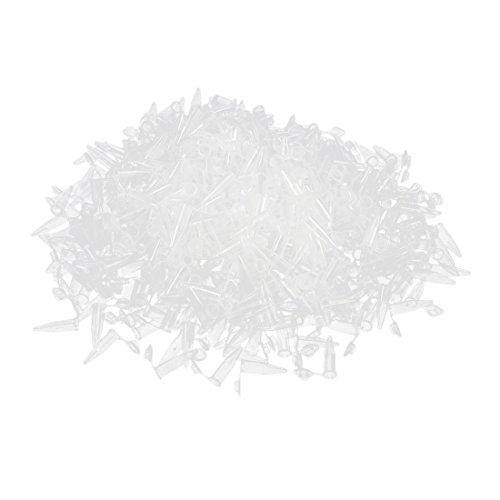 Preisvergleich Produktbild SODIAL (R) 500 Stueck Labor Klar Weiss Markierung Druck Kunststoff-Roehrchen 1, 5 ml