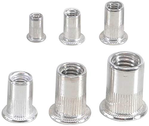 BGS 14127   Nietmuttern-Sortiment   150-tlg.   Aluminium   in praktischer, wiederverwendbarer Universalbox