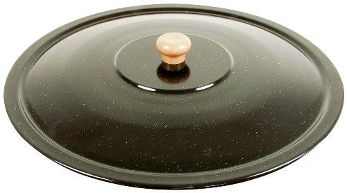 Grillplanet® Set 22 L Gulaschkessel mit Dreibein schwarz 1,80 m und Deckel (22 Liter original ungarischer Gulaschtopf Feuertopf Kesselgulasch Topf Feuerkessel Kochkessel Glühweinkessel Suppentopf Kessel)