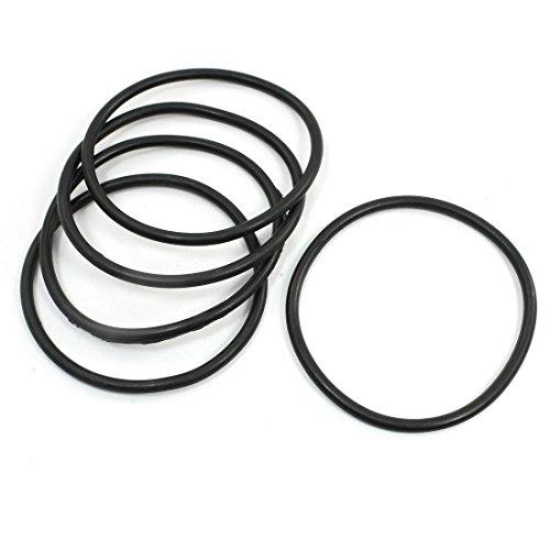 Preisvergleich Produktbild 5 x Soft Gummi O Ringe Dichtung Unterlegscheiben Ersatz Schwarz 95 mm x 5 mm