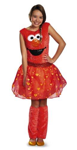 Sesame Elmo Kostüm Street - Disguise Sesame Street Elmo Tween Deluxe Tween Costume, Large/10-12 by Disguise