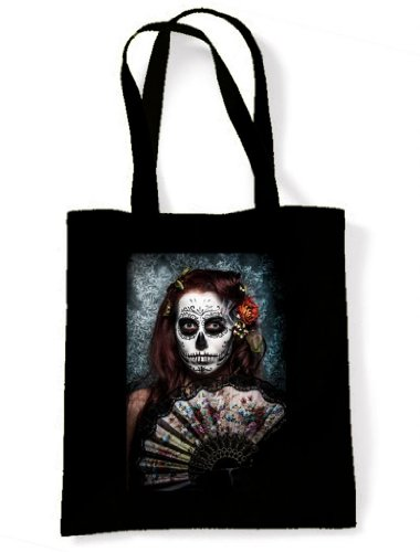 Day Of The Dead Girl Sugar Skull Tote / Shoulder Bag