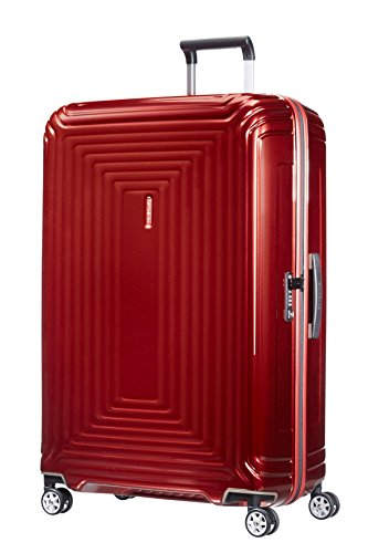 Samsonite Neopulse - Spinner XL Valigia, 81 cm, 124 L, Rosso (Metallic Red)