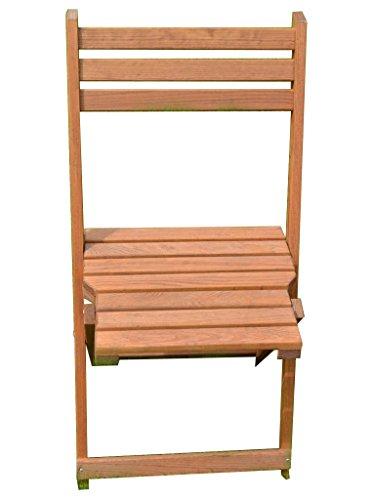 Chaise Pliante en Bois Brun foncé 43 x 80 cm et fauteuils de Jardin terrasse Chaise monté Neuf décor