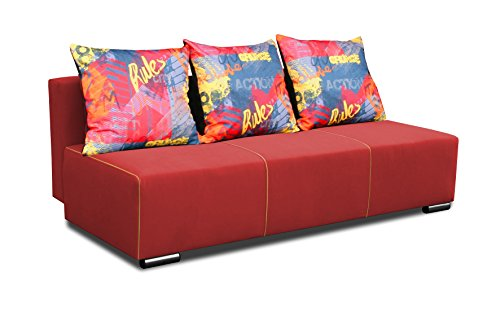 2-plazas Otto 2er sofá cojín de sofá cama de madera