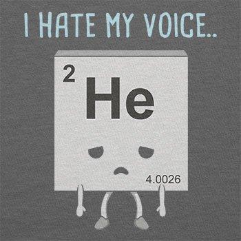 NERDO - I hate my Voice - Herren T-Shirt Grau