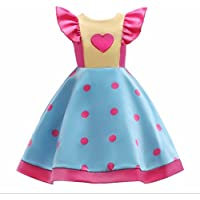 FXFAN Vestido de Niña Wave Print Vestido Infantil Grande Skiff Leader Bow Child Skirt Yellow ZHANGM (Color : Amarillo, Tamaño : 130)