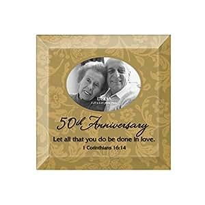 50th Anniversary Cadre Photo avec pied de soutien à l'arrière