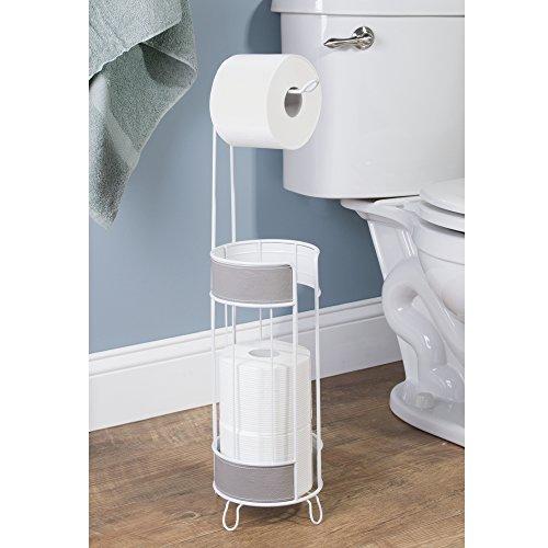 Mdesign portarotolo carta igienica in acciaio cromato - Porta carta igienica da terra ...